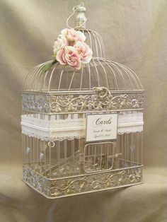 Wedding Card Box Birdcage Holder By Yesmorefunk 68 00 Pinterest The Ribbon And Cards
