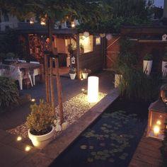 """""""Loving my garden right now... #lights #summer #garden #night #bliss"""""""