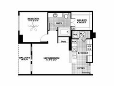 Morningside Gardens One Bedroom Apartment Floor Plan 1