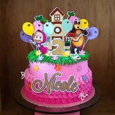 Bear Birthday, Birthday Cake, Masha And The Bear, Girl Cakes, Cupcakes, Cake Toppers, Lima, Desserts, Food