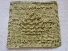 This dishcloth will use almost all of a 50 gr. ball of 100% cotton knitted worsted weight yarn.