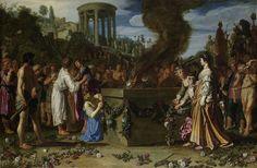 Orestes and Pylades Disputing at the Altar, Pieter Lastman, , 1614 medium: oil paint