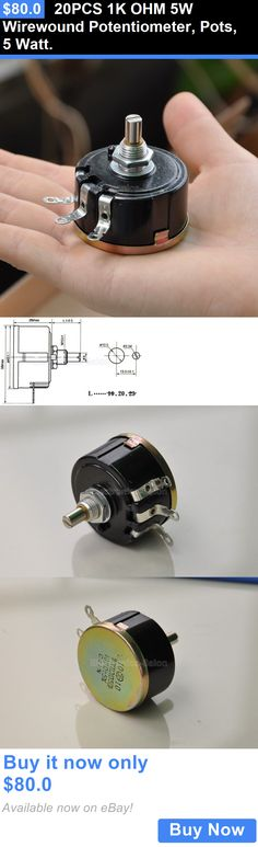 Other Vintage A V Parts and Accs: 20Pcs 1K Ohm 5W Wirewound Potentiometer, Pots, 5 Watt. BUY IT NOW ONLY: $80.0