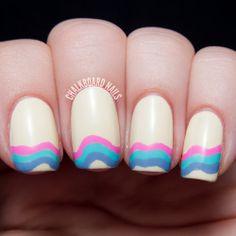 Baby's First Ruffians - Nicole by OPI Modern Family Nail Art | Chalkboard Nails | Nail Art Blog
