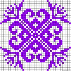 Flower hearts perler bead pattern