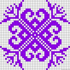 Tribal perler bead pattern