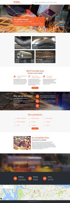 Are you looking for a welding website template which would look as robust as the welding business itself? Check out a powerful look of this one! Website Design Layout, Website Design Company, Webpage Layout, Web Design Mobile, Business Website Templates, Design Responsive, Welding Design, Web Design Inspiration, Design Ideas