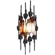 Brutalist Wall Sconce By Tom Ahlström & Hans Ehrlich Sweden   From a unique collection of antique and modern wall lights and sconces at https://www.1stdibs.com/furniture/lighting/sconces-wall-lights/