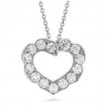 Hearts On Fire 18kt White Gold Diamond Necklace from Cornell's Jewelers.