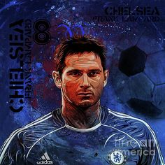 Frank Lampard by Gull G Chelsea Fc, Football Team, Champs, Fine Art America, Blues, Soccer, Facts, Wall Art, Football
