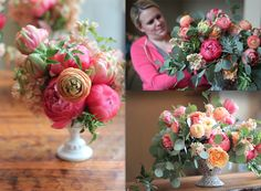 Color/style inspiration...less of the bright coral, not quite so bright...Blog — STEMS – Austin Florist | Austin Wedding Florist | Austin Event Florist