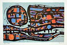 1966 Photolithograph Alfred Manessier Epreuve D'Artist Proof Colorful Abstract #abstractart