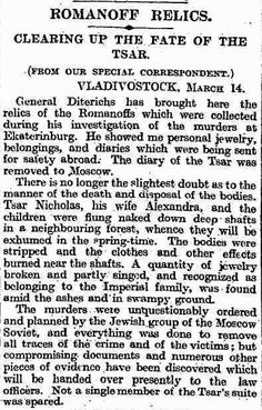 Famous article by Robert Wilton - russian correspondant for British Newspaper - Mar 14 , 1919.