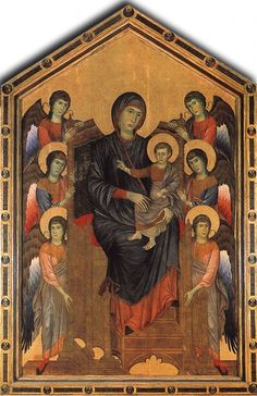 Madonna Enthroned with the Child and four Angels, Tempera on wood  Santa Maria dei Servi, Bologna