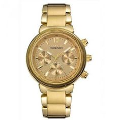 Viceroy Women's 47642-29 Femme Yellow Gold Ion-Plated Stainless Steel Dual Time Watch by Viceroy -- Awesome products selected by Anna Churchill