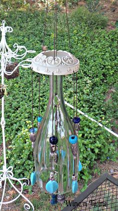 This is a one of a kind wind chime Tom created.  It would look great on any patio or yard.