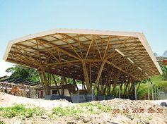 contoh konstruksi bambu, bukan bisa digunakan untuk saung sederhana saja.  Bambu juga bisa digunakan untuk bangunan yang komplek Gazebo, Pergola, Bamboo Building, Timber Architecture, Bamboo Construction, Around The Worlds, Outdoor Structures, Museum, Trends