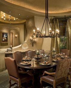 Bess Jones Interiors's Design, Southwestern Design Beautiful, almost my exact dining room furniture, this house is amazing! Architecture Design, Mud House, Beautiful Dining Rooms, Ranch Style Homes, Earth Homes, Western Decor, Rustic Decor, Rustic Kitchen, Living Room Furniture