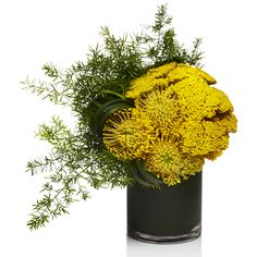 Yellow Pincushion Centerpiece - H.Bloom