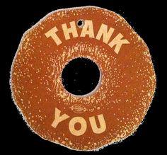 Vintage Salvation Army Doughnut DayThank You Tag