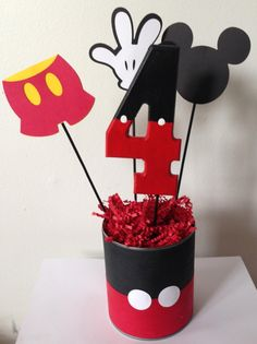 Hey, I found this really awesome Etsy listing at https://www.etsy.com/listing/190788920/mickey-mouse-birthday-centerpiece