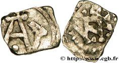 """ARLES (ARELATVM) ou MARSEILLE (MASSILIA) Denier, patrice Antenor ANT / SM, c 700-726, argent- CHILDEBERT IV. 2) SOURCES, Chap 6 de la Continuation de la Chronique de Fredegaire (v 760), 3: PEPIN et RADBOLD, duc païen de la nation des FRISONS se firent l'un à l'autre la guerre au fort de DUURSTEDE où ils se livrent bataille. Pépin sortit vainqueur, et comme le duc RADBORD avait été mis en fuite avec les FRISONS rescapés, le même Pépin revint chargé de dépouilles et de butin (...)""""."""