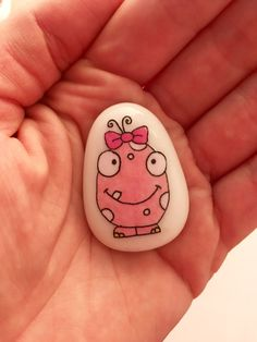Your place to buy and sell all things handmade Painting For Kids, Diy Painting, Fiddle Toys, Worry Monster, Rock Painting Supplies, Inspirational Rocks, Painted Rocks Craft, Painted Shells, Lucky Stone