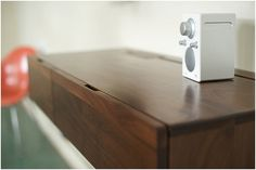 wall desk with cord system.