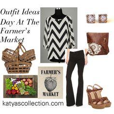 """Farmer's Market Outfit Idea - Chevron Blouse"" by mstravesura on Polyvore"