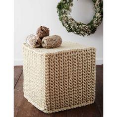 Mega Crochet Ottoman - Patterns | Yarnspirations