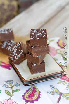 Easy Dark Chocolate Fudge (no candy thermometer needed) for fun pour half then a layer of after eight chocolate then rest if fudge... yum