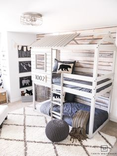 Adventure Boy Room Shopping Sources Fabulous bunk beds for a boys bedroom!Fabulous bunk beds for a boys bedroom! Bunk Beds For Boys Room, Kid Beds, Boy Bunk Beds, Bunk Beds For Toddlers, Rooms For Boys, Big Boy Rooms, Cool Beds For Boys, House Bunk Bed, Shared Boys Rooms