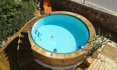 handmade wooden pallet outdoor pool