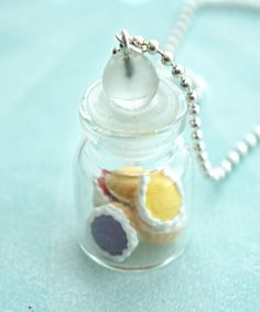 Assorted Fruit Pies In A Jar Necklace