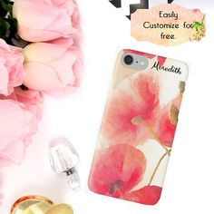 Red Flowers Phone Case iPhone Wallet Red Poppy Floral iPhone