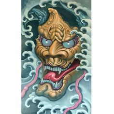Finished #hannya #oilpainting #slavetotheneedle (at Slave to the Needle)