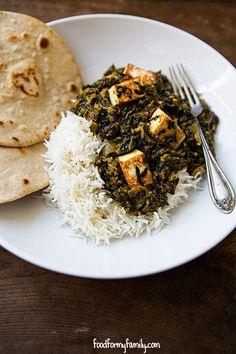 Saag Paneer Recipe via FoodforMyFamily.com