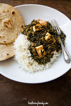 Saag Paneer Recipe via FoodforMyFamily.com