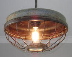 Ceiling Light/Pendant Light/Chicken Feeder by UpscaleIndustrial