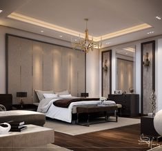Contemporary Bedroom Interior design on Behance Room Design, Home, Small Master Bedroom, Contemporary Living Room, Contemporary House, Modern Bedroom, Small Bedroom, Bedroom Bed Design, Interior Design