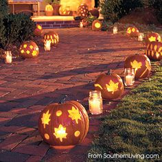 """A fun and super easy way to """"carve"""" pumpkins :-)"""