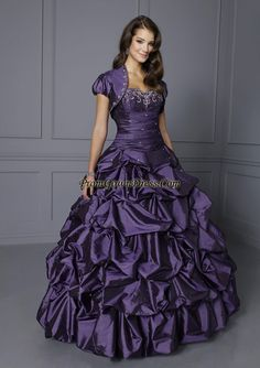 Image detail for -Beautiful purple sweetheart floor-length ball gown prom dress 86090 ...