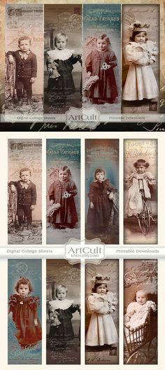Digital Collage hoja perdidos entre favoritos para por ArtCult