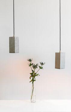 Concrete gold design lamp hanging lamp B2 by GANTlights on Etsy, €130.00