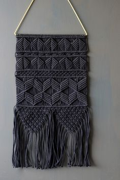 Handmade Artisan Wall Hanging - Black - View All - Home Accessories