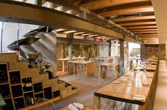 DETALLE ESCALERAS . Stair Design The Carne Italian Restaurant Design Ideas by InHouse Brand Image