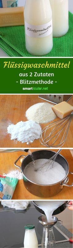 Waschmittel selber machen - schnell, einfach, preiswert und nachhaltig
