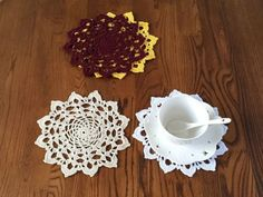 Coupon Code : 5$SALE4U If you like hand crochet, this way: Welcome to Handmade_Crochet.   Handmde doilies/coasters for wedding /home decor Nice background for photography Pure handmade doilies, it...@ artfire