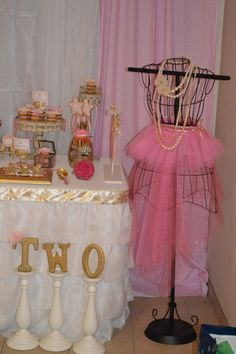 Pretty decor at a Princess Party!  See more party ideas at CatchMyParty.com!  #partyideas #princess