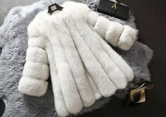 Brand Luxury Women's Fox Fur Coat